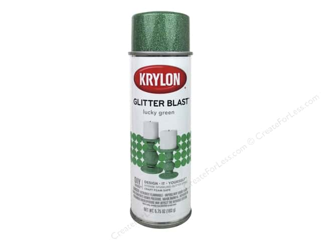 Krylon Glitter Blast Spray Paint 5.75 oz. Lucky Green