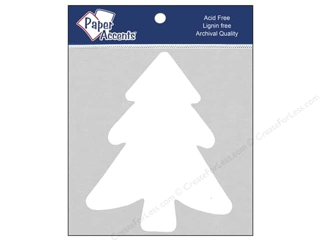 Paper Accents Chipboard Shape Tree 8 pc. White