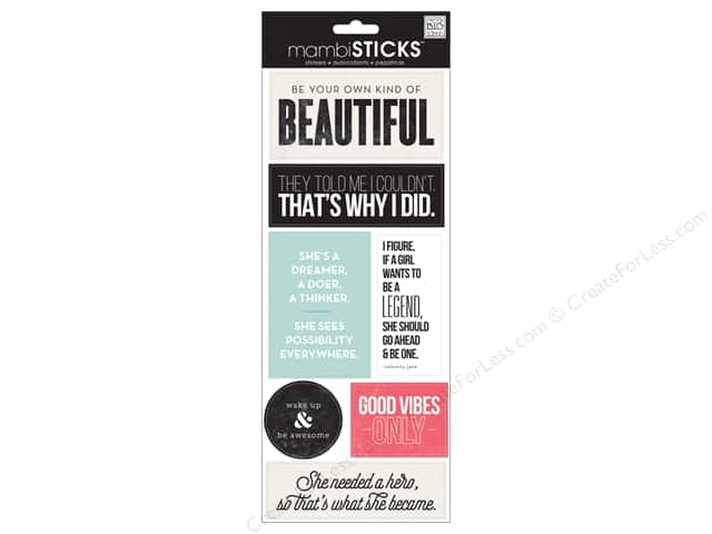 Me&My Big Ideas Sticker Sticks Be Your Own Beautiful
