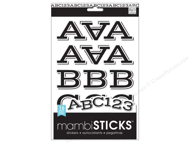 Me & My Big Ideas Sticks Alphabet Stickers Sophia Caps Black