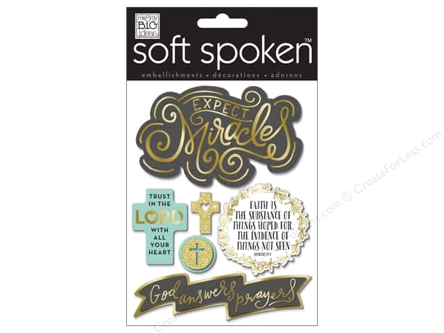 Me & My Big Ideas Soft Spoken Stickers Expect Miracles