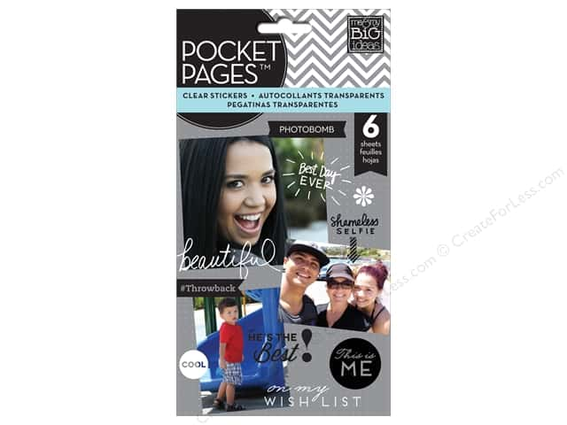Me&My Big Ideas Sticker Pocket Pages Photo Sayings
