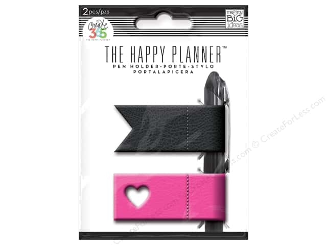 Me&My Big Ideas Collection Create 365 Happy Planner Pen Holder Pink/Black
