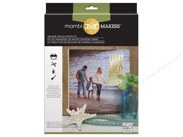 Me&My Big Ideas Kits Photo Medium Square Wood