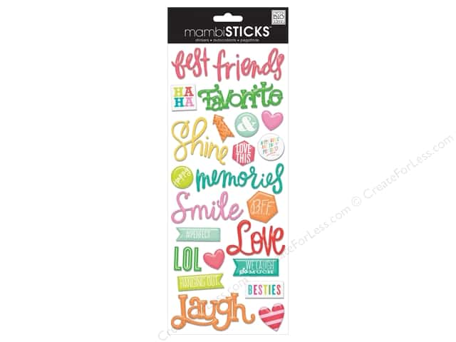 Me&My Big Ideas Sticker Sticks Best Friends