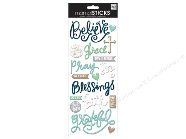 Me&My Big Ideas Sticker Sticks Faith Believe