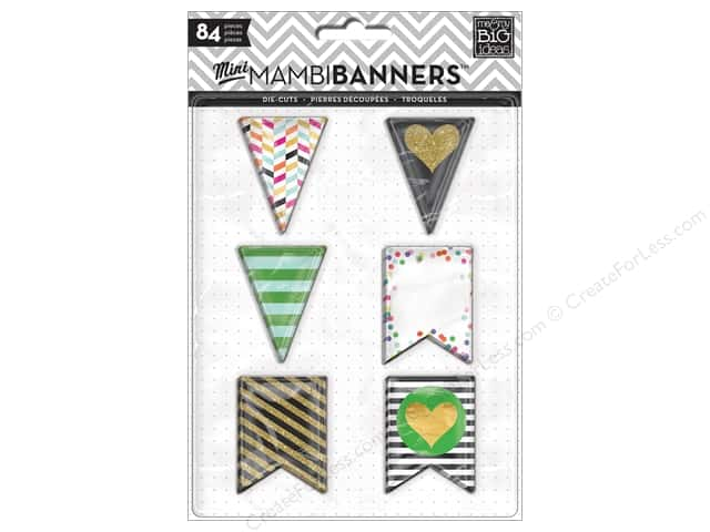 Me&My Big Ideas Die Cut Paper Big City Brights Banners