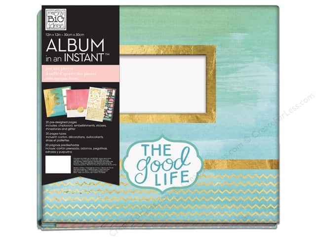 """Me&My Big Ideas Album Kit In An Instant 12""""x 12"""" Caribbean Bliss"""