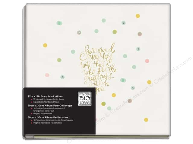 "Me&My Big Ideas Scrapbook Album 12""x 12"" Greatness Confetti"