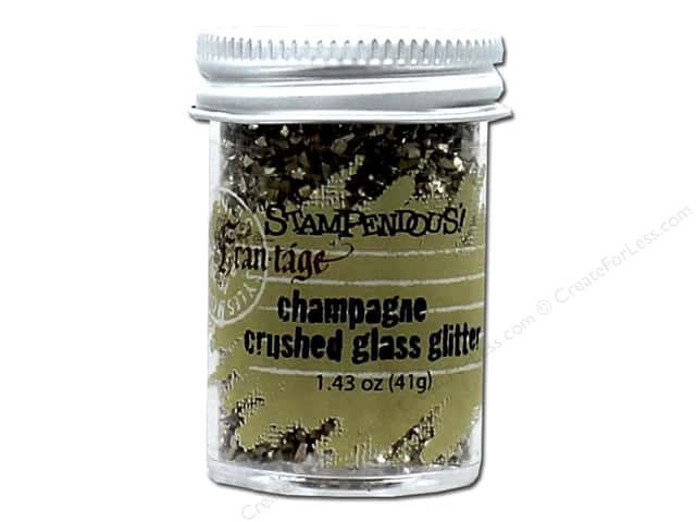 Stampendous Fran-Tage Crushed Glass Glitter 1.59 oz. Champagne