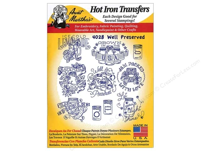 Aunt Martha's Hot Iron Transfer #4028 Well Preserved