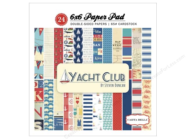 Carta Bella 6 x 6 in. Paper Pad Yacht Club