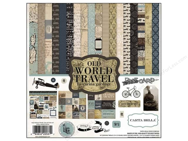 Carta Bella 12 x 12 in. Collection Kit Old World Travel
