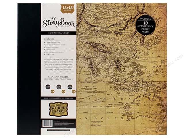 Carta Bella 12 x 12 in. My Storybook Photo Journal Old World Travel Map