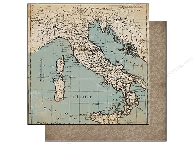 Carta Bella 12 x 12 in. Paper Old World Travel Old World Map (25 sheets)