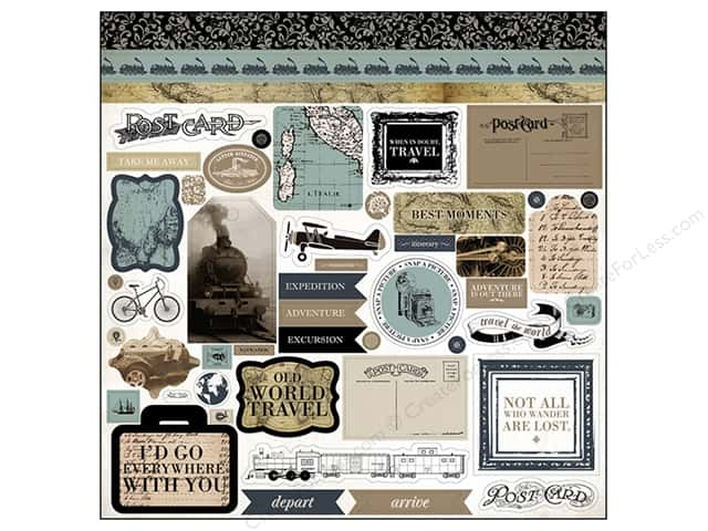Carta Bella Stickers Old World Travel Element (15 sheets)