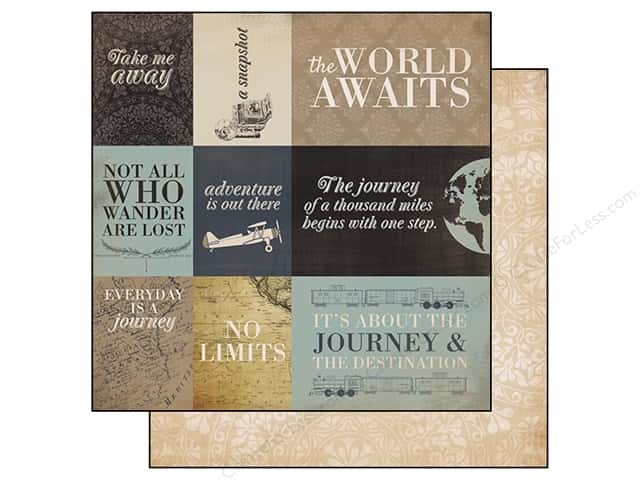Carta Bella 12 x 12 in. Paper Old World Travel Journaling Cards (25 sheets)