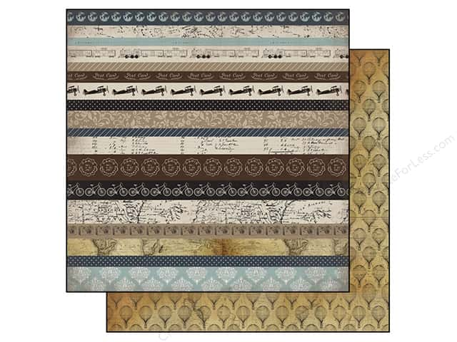 Carta Bella 12 x 12 in. Paper Old World Travel Border Strips (25 sheets)