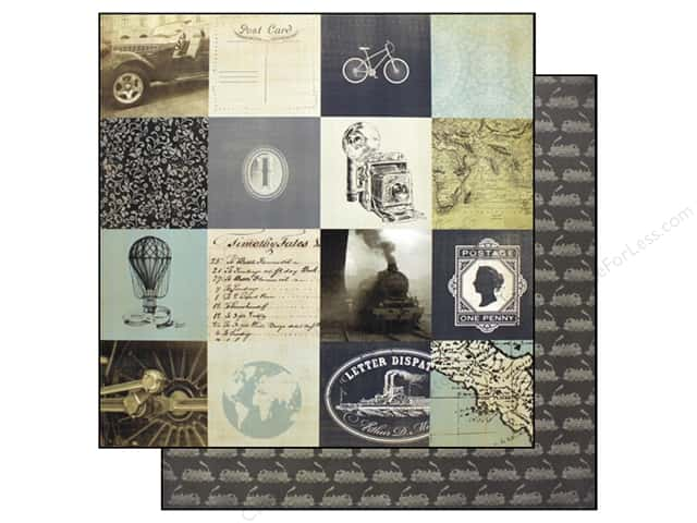 Carta Bella 12 x 12 in. Paper Old World Travel 3 x 3 Cards (25 sheets)