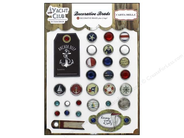 Carta Bella Decorative Brads Yacht Club