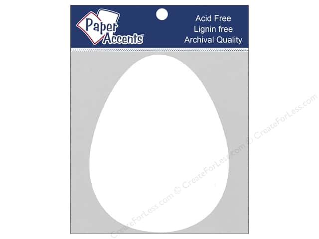 Paper Accents Chipboard Shape Egg 8 pc. White