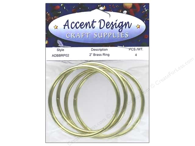 PA Essentials Brass Rings 2 in. 4 pc.