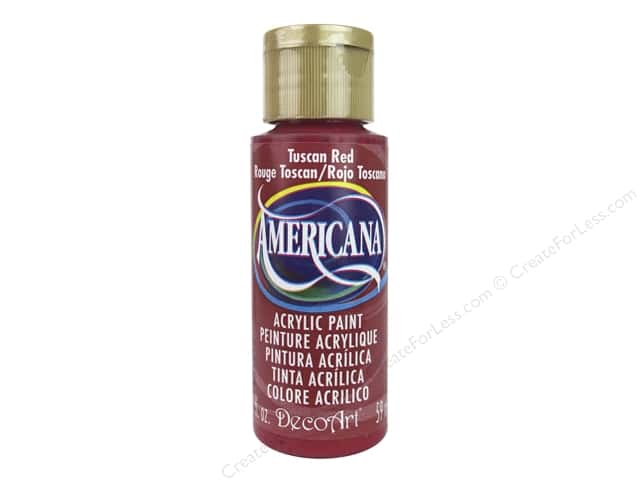 DecoArt Americana Acrylic Paint 2 oz. #265 Tuscan Red
