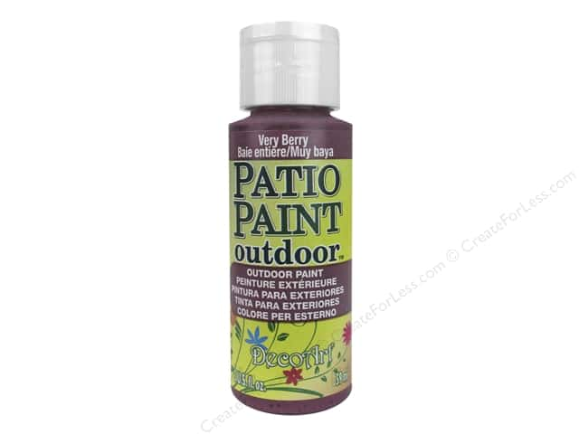 DecoArt Patio Paint Outdoor Acrylic Paint 2 oz. #72 Very Berry