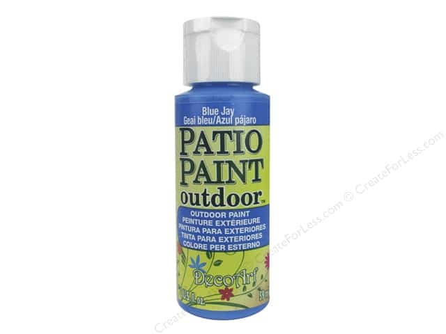 DecoArt Patio Paint Outdoor Acrylic Paint 2 oz. #76 Blue Jay