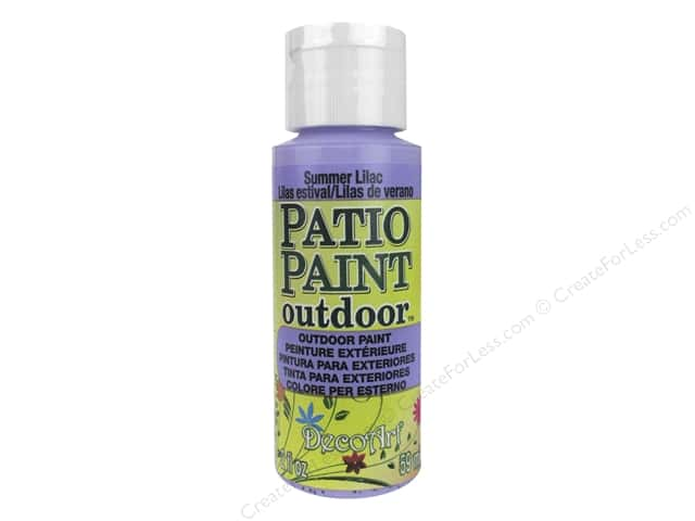 DecoArt Patio Paint Outdoor Acrylic Paint 2 oz. #77 Summer Lilac