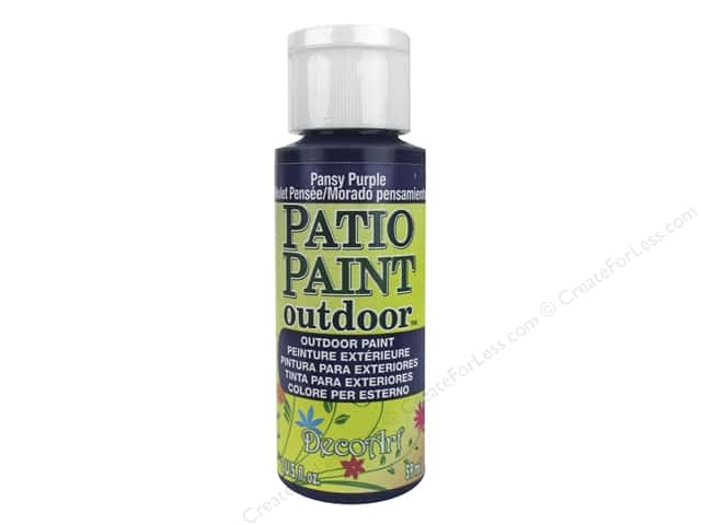 DecoArt Patio Paint Outdoor Acrylic Paint 2 oz. #44 Pansy Purple