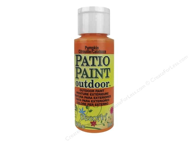 DecoArt Patio Paint Outdoor Acrylic Paint 2 oz. #52 Pumpkin