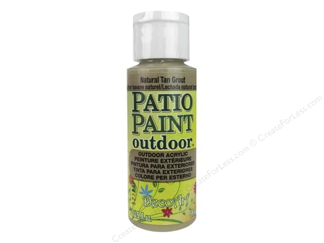 DecoArt Patio Paint Outdoor Acrylic Paint 2 oz. #39 Natural Tan Grout