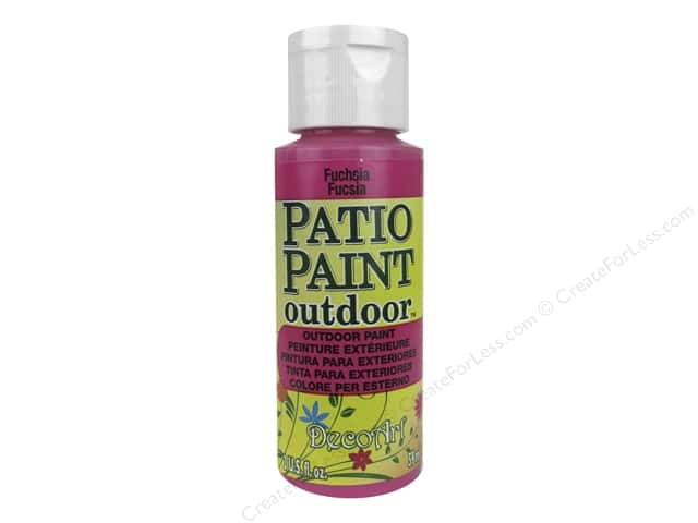 DecoArt Patio Paint Outdoor Acrylic Paint 2 oz. #42 Fuchsia