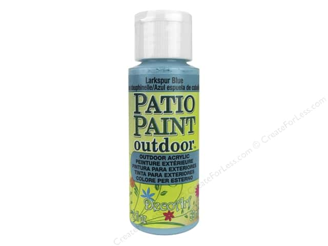 DecoArt Patio Paint Outdoor Acrylic Paint 2 oz. #34 Larkspur Blue