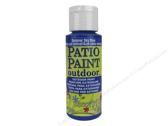 DecoArt Patio Paint Outdoor Acrylic Paint 2 oz. #10 Summer Sky Blue
