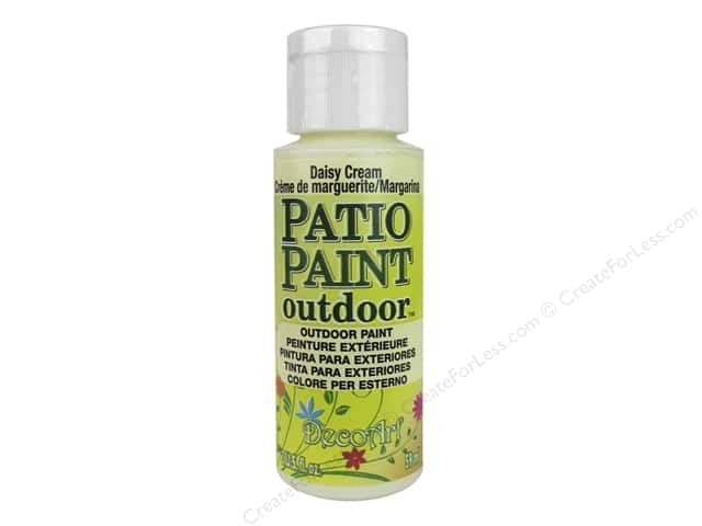 DecoArt Patio Paint Outdoor Acrylic Paint 2 oz. #15 Daisy Cream