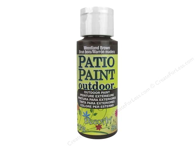 DecoArt Patio Paint Outdoor Acrylic Paint 2 oz. #18 Woodland Brown