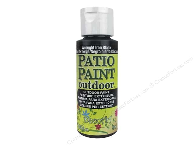 DecoArt Patio Paint Outdoor Acrylic Paint 2 oz. #21 Wrought Iron Black