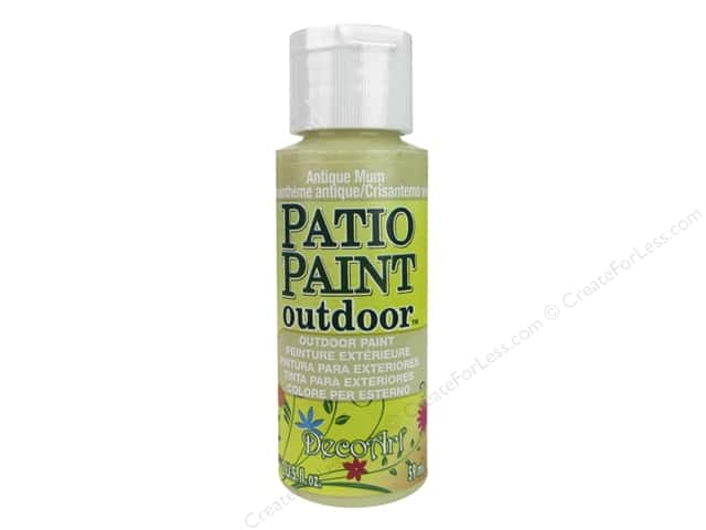 DecoArt Patio Paint Outdoor Acrylic Paint 2 oz. #19 Antique Mum