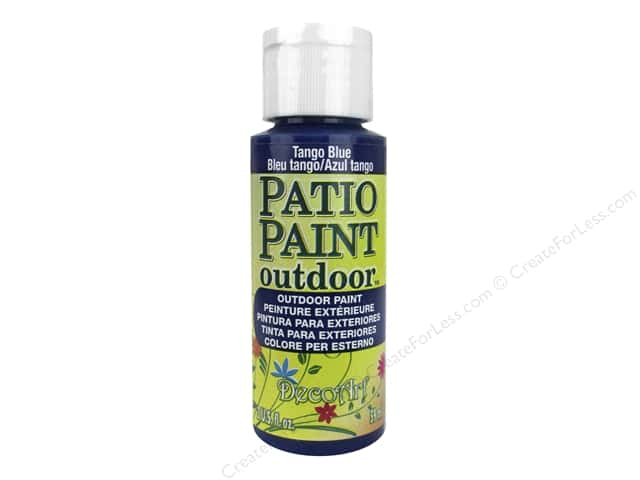 DecoArt Patio Paint Outdoor Acrylic Paint 2 oz. #26 Tango Blue