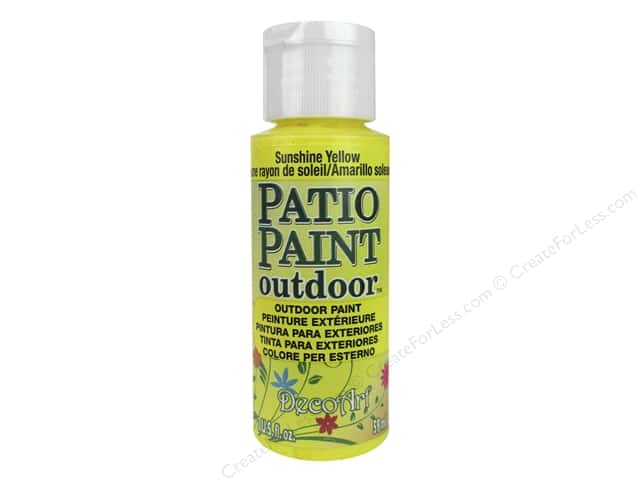 DecoArt Patio Paint Outdoor Acrylic Paint 2 oz. #6 Sunshine Yellow