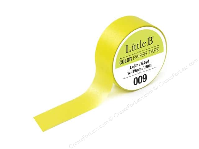 Little B Color Paper Tape 9/16 in. #009 Neon Yellow