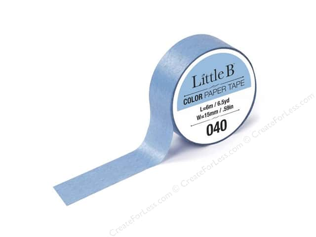 Little B Color Paper Tape 9/16 in. #040 Light Carolina Blue