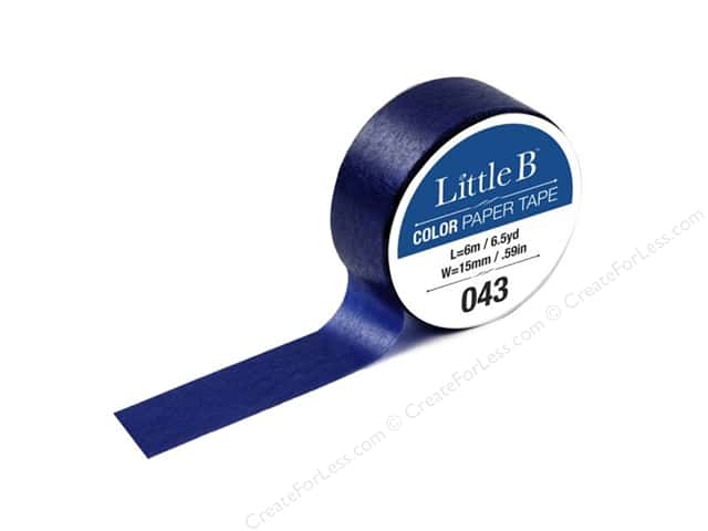 Little B Color Paper Tape 9/16 in. #043 Prussian Blue