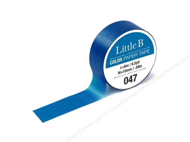 Little B Color Paper Tape 9/16 in. #045 Cobalt Blue