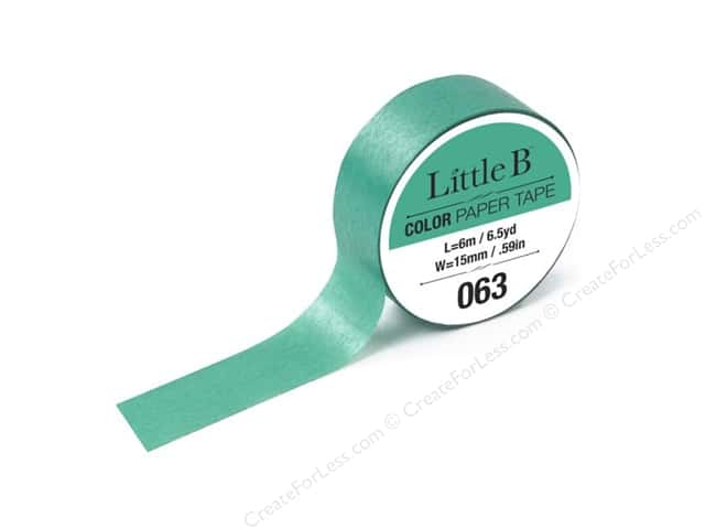 Little B Color Paper Tape 9/16 in. #063 Jade Green