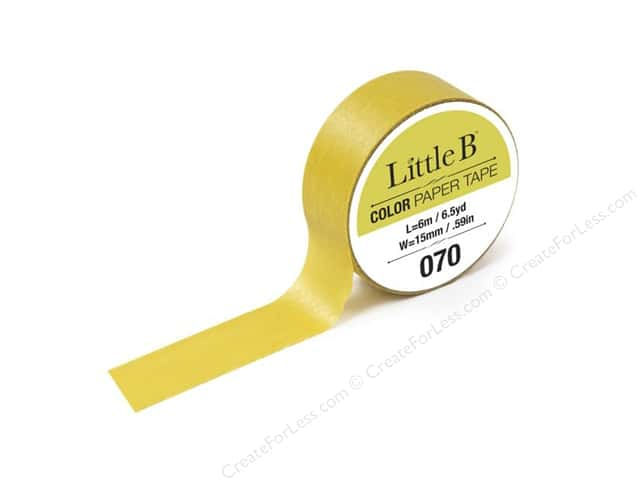 Little B Color Paper Tape 9/16 in. #070 Greenish Gold