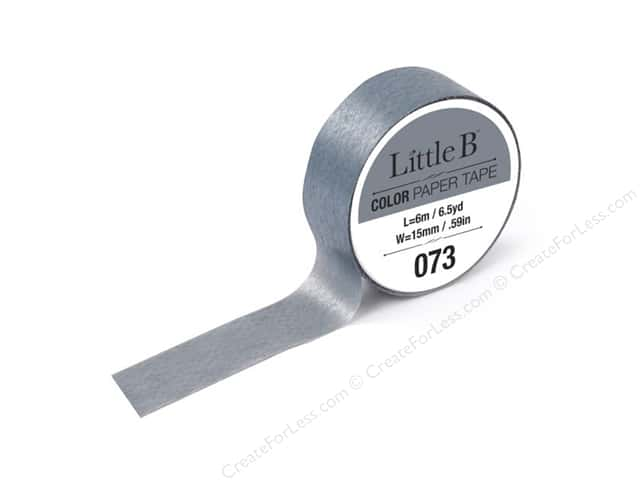 Little B Color Paper Tape 9/16 in. #073 Grey