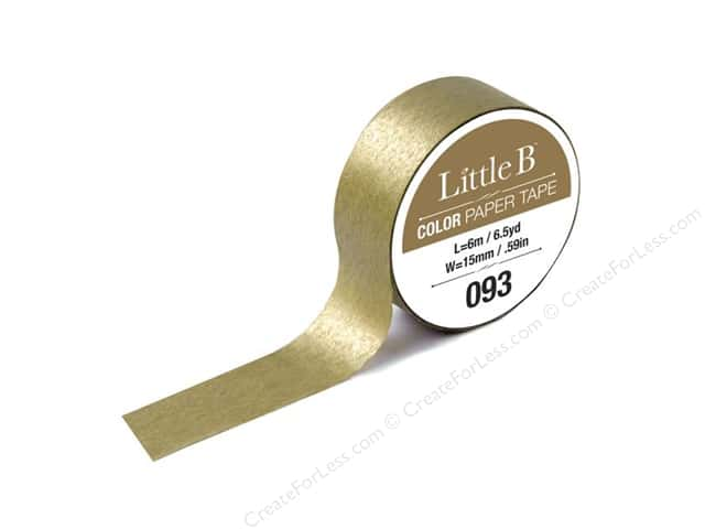 Little B Color Paper Tape 9/16 in. #093 Gold